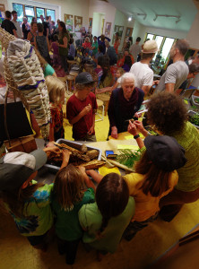 Hands-on nature exhibits and activities filled one end of the room