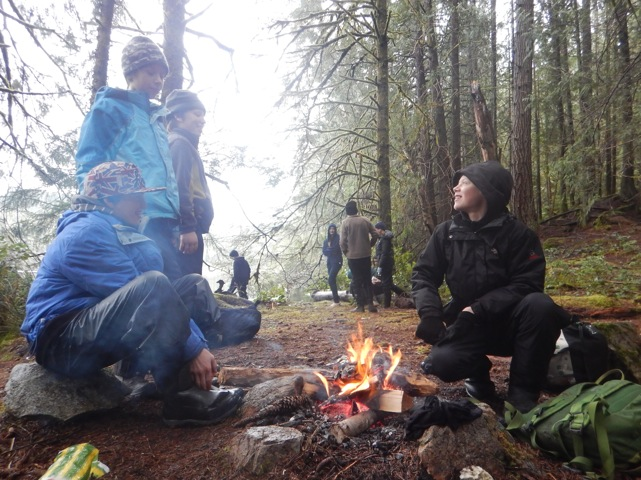 Lunch campfire in Grandmother Grove